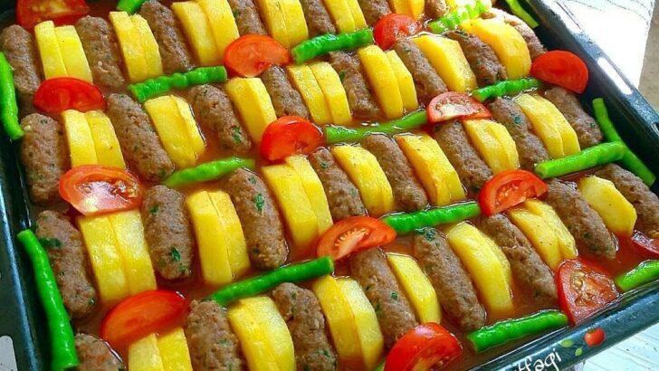 Fırında Köfte Patates(İzmir kofte)