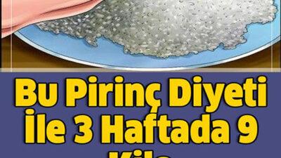 Bu Pirinç Diyeti İle 3 Haftada 9 Kilo Verebilirsiniz