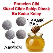 Porselen Gibi Cilde Sahip Olmak İçin Bal Aspirin Maskesi Tarifi