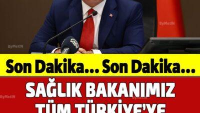 Sağlık bakanı Türkiyeyi korkutan açıklamayı yaptı !