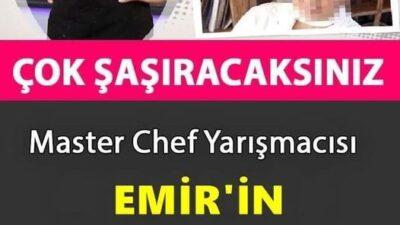 Masterchef Emir Elidemir'in Annesi Bakın Kim Çıktı.